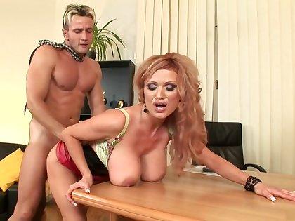 Fabulous pornstar Sharon Pink in horny mature, lingerie porn scene