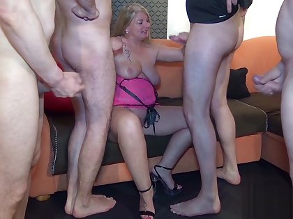 Creampie and mud fuck Bitch! Dominant group of men inseminated my pussies hole and my mouth, extreme!
