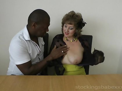 Glamour old-fashioned lady hard porn video
