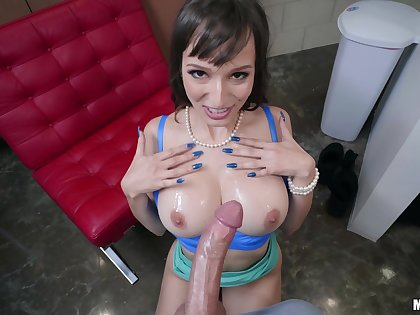 Full POV with mommy after she gives sloppy blowjob