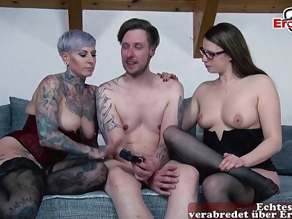 German anal lesbians attempt her asshole first time