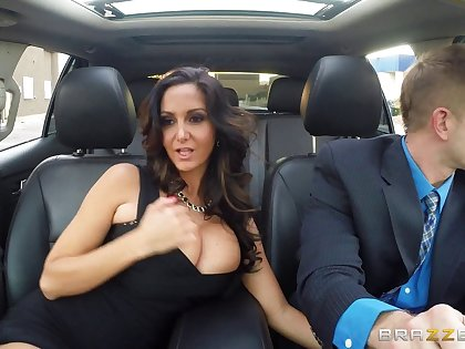 Adult wife Ava Addams in stockings enjoys riding a rock fast dick