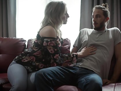 Young dude enjoys fucking sexy young wife of his grand dad