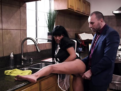 MILF with stirring up naturals enjoys the man's hungry horseshit pretty hard