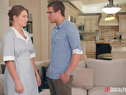 Quickie bonking on the day-bed to natural pair Giselle Palmer
