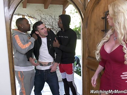 Premium cougar blacked and jizzed close by merciless ways