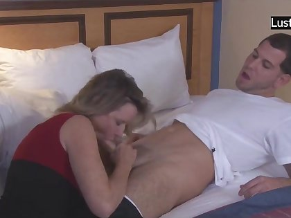 mom dances with son - Mature