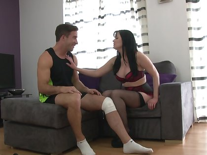 Cock hungry mature Tanya Cox gets fucked away from a younger man. HD