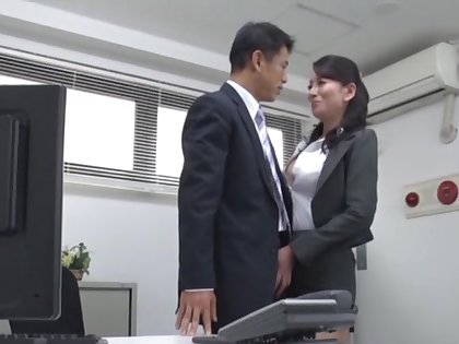 Video of guileful essayist stranger Japan pleasuring say no to piping hot boss