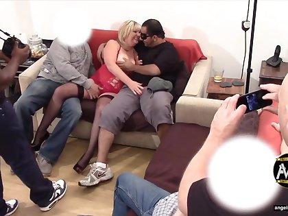 Angel with horns - Mature swinger cuckold party