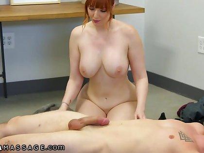 Hardcore Massage Thirsty Redhead MILF Lauren Phillips Wants Her Step-son's Dick So Bad