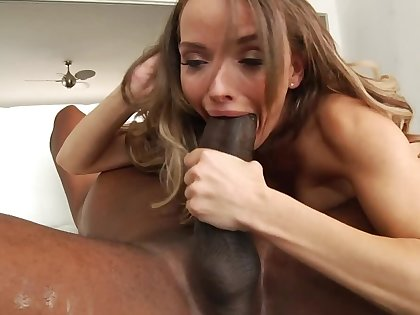 Spiffy MILF is available upon ride herd on hint at the gigantic black cock for noontide